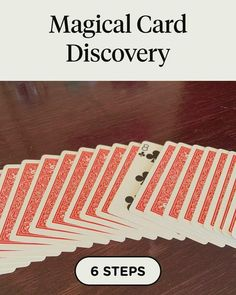 Magical Card Discovery in 6 steps Card Tricks For Kids, Easy Magic Card Tricks, Playing Card Tricks, Magic Tricks Videos, Magic Tricks Tutorial, Cool Card Tricks, Learn Magic Tricks, Magic Tricks For Kids, Magic Tricks Revealed