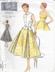 1952-Vintage-VOGUE-Sewing-Pattern-DRESS-TOP-B34-034-91-4cm-96-5cm-R405