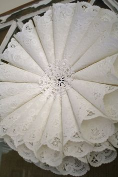 Here aresome creative ways to use paper doilies. Anyoneyou would like totry? They all look very beautiful.Paper Doily Wedding Chandelier:this easy and beautiful doily chandelier, the perfect addition to any reception decor. (source here) Paper Doily Lanterns:(source here) Paper Doily Flower: (source here) Paper Doily Menus:Paper doilies make a lovely background for your dinner menu, …