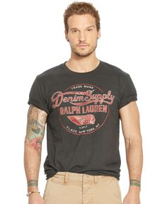 Denim & Supply Ralph Lauren Jersey Graphic T-Shirt