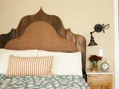 Cream Master Bedroom with Seating, Ottoman & Fireplace : Designers' Portfolio : HGTV - Home & Garden Television