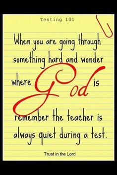 God is the teacher