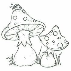 Infected Mushroom coloring pages! Mushroom Drawing, Mushroom Art, Bulletins, Wood Burning Art, Magnolias, Coloring Book Pages, Digital Stamps, Fabric Painting, Rock Art