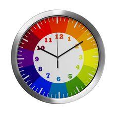 cute color wheel Modern Wall Clock