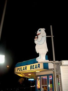 The Polar Bear ice cream drive in restaurant. North Riverside Illinois. Early September 2006. by Eddie from Chicago, via Flickr