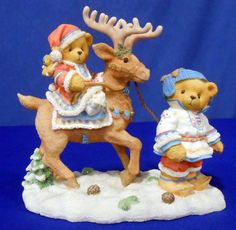 """Sven & Liv - Winter - """"All Paths Lead to Kindness and Friendship"""" - 1997 - #272159 Clay Bear, Cow Creamer, Boyds Bears, Pug Love, Etsy Store, Cola Cake, Teddy Bear, Coca Cola, Pugs"""