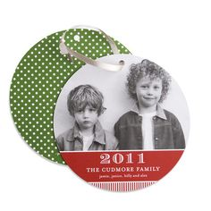 Save one of your Christmas cards as an ornament for the tree