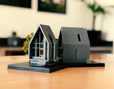Stunning model of a modern home. Maquette Architecture, Architecture Model Making, Concept Architecture, Interior Architecture, Landscape Architecture Model, Planer Layout, Arch Model, Architect House, Model Homes