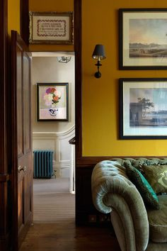 This colourful century house is decorator Gavin Houghton at his best is part of Yellow Home Accessories Interior Design The owners of this west London house employed a skilled team to restore a - House, Interior, Yellow Interior, London House, Yellow Room, Yellow Living Room, English Decor, Mustard Walls, Yellow Home Accessories