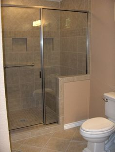 Converted Tub To Walk In Shower With Bench And Pony Wall