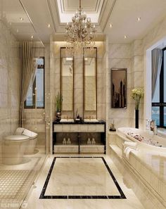 in a home( particularly a huge home ought to have a master bathroom. Along with the master bathroom carries a larger size in comparison to other bathrooms. And the master bathroom is created more elegant and more lavish in contrast… Continue Reading → Modern Luxury Bathroom, Modern Bathtub, Bathroom Design Luxury, Modern Room, Luxury Bathrooms, Bath Design, Kitchen Modern, Classic Bathroom, Kitchen White
