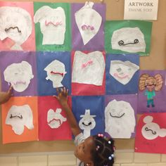 The children picked partners and created Dali's mustache
