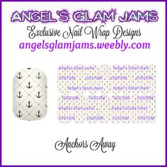 Anchors Away Jamberry Nail Wraps by Angel's Glam Jams  ORDER HERE: http://angelsglamjams.weebly.com/anchors-away.html  #anchors #nautical #summer #beach #jamberry #nailwraps