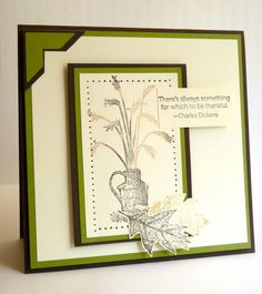 """""""There's always something to be thankful for."""" by Luv Flowers - Cards and Paper Crafts at Splitcoaststampers"""