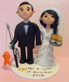 personalised wedding cake topper made to look like you.