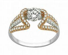 Purple and White Diamond Egyptian Engagement Ring Set 18k Yellow