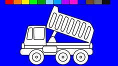 Learn colors for kids with construction truck coloring pages | Coloring ...