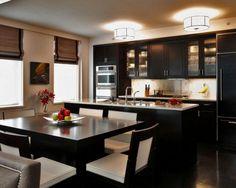 Роскошь современной классики в вашем доме. Черная прямая кухня Айлен с островом http://www.mebel-zevs.ru/kukhni/kuhnja-243