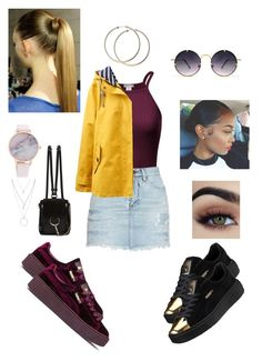"""casual mall day✨"" by angeliqueamor on Polyvore featuring Puma, Yves Saint Laurent, Joules, Chloé, Forever 21 and Spitfire"