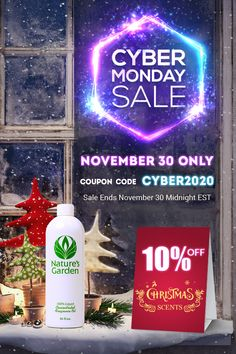 Cyber Monday 2020 Sale at Natures Garden #cybermonday #naturesgarden