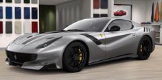 Ferrari F12 TDF painted in Titanium Grey Photo taken by: @ferraricollector_davidlee on Instagram (He is also the future owner of the car)