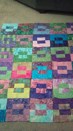Quilt pattern using strips or jelly rolls - no tutorial, pic for inspiration