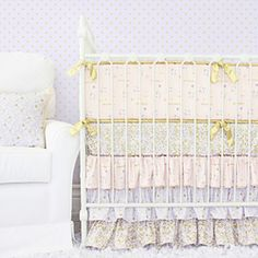 Lilac and Gold Sparkle Bedding Swatch Kit