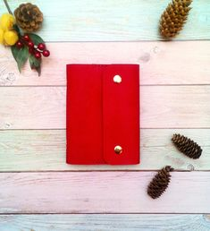 A6 A5 Binder* Leather Journal 6 Rings* Refillable Leather Notebook* A6 A5 Planner Binder* Personalized Red Journal