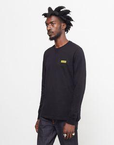 Barbour International Long Sleeve Logo T-Shirt Black #StyleMadeEasy