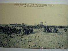 GUERRA DE MARRUECOS DESEMBARCO DE ALHUCEMAS PLAYA MORRO NUEVO - NO CIRCULADA - MAS EN VENTA - Foto 1