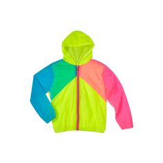 Sporty Summer Jacket ($18) ❤ liked on Polyvore featuring outerwear, jackets, tops, pastel jacket, neon jacket, evening jackets, neon green jacket and green jacket