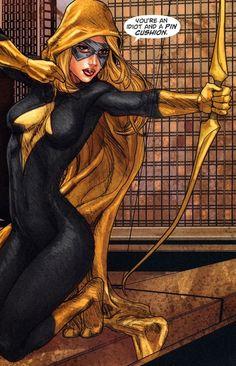 Speedy aka Mia Dearden was the ward & sidekick of Green Arrow