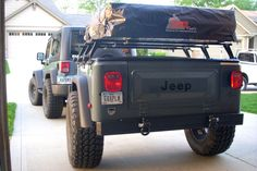 How-to build a Jeep Trailer, Customer Example: Bill's Compact with great plates