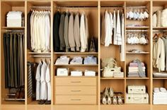Tidy wardrobe storage ideas