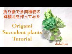 折り紙で多肉植物の鉢植えを作ってみた✩Origami Succulent plants Tutorial