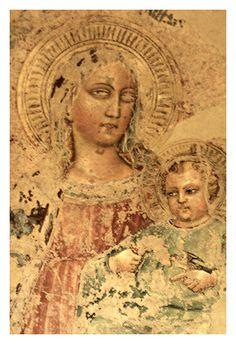 Madonna col Bambino del Maestro di San  Martino a Mensola (ultimo quarto del sec.XIV) Toscana Fucecchio  #TuscanyAgriturismoGiratola