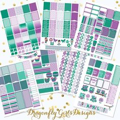 NEW!!!! DIY April Printable Planner Stickers Monthly Kit 700+ Stickers pdf and 7 jpeg Erin Condren Life Planner Kikkik Filofax