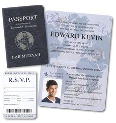 Passport #Bar #Mitzvah #Invitation