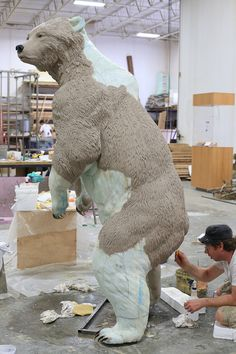 """We could all use a little more art fabrication… Building the """"Coast to Cactus"""" Exhibit for the San Diego Natural History Museum Concrete Sculpture, Cardboard Sculpture, Cement Art, Concrete Art, Concrete Crafts, Sculpture Projects, Sculpture Art, Styrofoam Art, Foam Carving"""