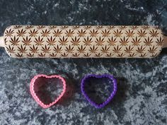 Make some medicated cookies with this #Marijuana pattern rolling pins and cookie by RollingPinsDesign