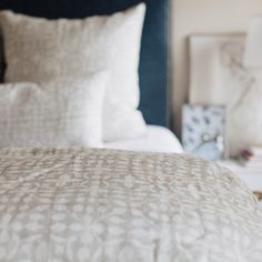 Veena Grey Duvet Cover by Mintwood Home