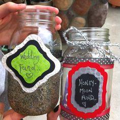 easy to make wedding saving jars!