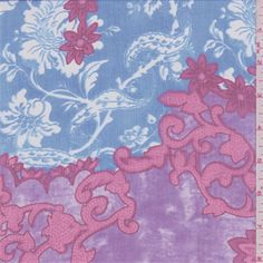 Items similar to Purple/Blue Floral Crinkled Silk Chiffon, Fabric By The Yard on Etsy Silk Chiffon Fabric, Muslin Fabric, Plum Purple, Burgundy, Pink, Lace Print, Fashion Fabric, White Fabrics, Floral Prints