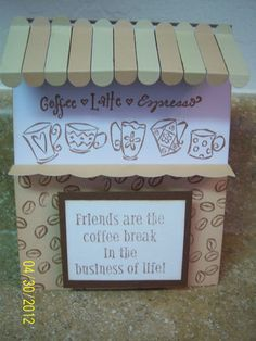Awning store front coffee cards for all occassion coffee themed cards. I had a lot of fun making these.