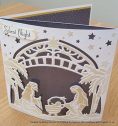 Crafters Companion O' Holy Night Create a Card die