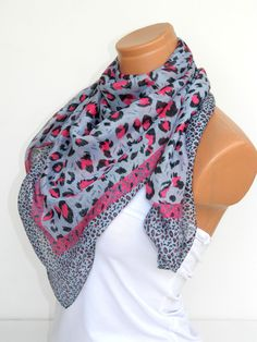 Gray Pink Multicolor leopard pattern Turkish by WomanStyleStore, $19.00