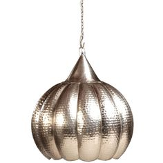 Hanging lamp-silver by Dovetail Furniture.