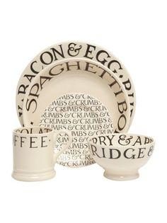 Emma Bridgewater Black toast dinnerware range...love EB!