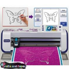 The newest cutting machine on the market is from Brother and is called the Scan N Cut. In looking at this machine verses the Cricut Line of cutters,. Brother Scan And Cut, Boutique Scrapbooking, Brother Dream Machine, Scan N Cut Projects, Diy And Crafts, Paper Crafts, Make Do And Mend, Cricut, Popular Crafts