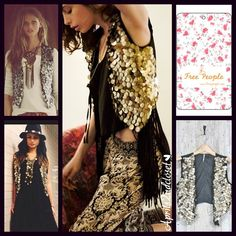 """Selling this """"Free People Gold Coin Black Vest Boho Festival"""" in my Poshmark closet! My username is: People Black Vest, Boho Festival, Gold Coins, Free People Tops, One Size Fits All, Sequin Skirt, Username, Scarfs, Shopping"""
